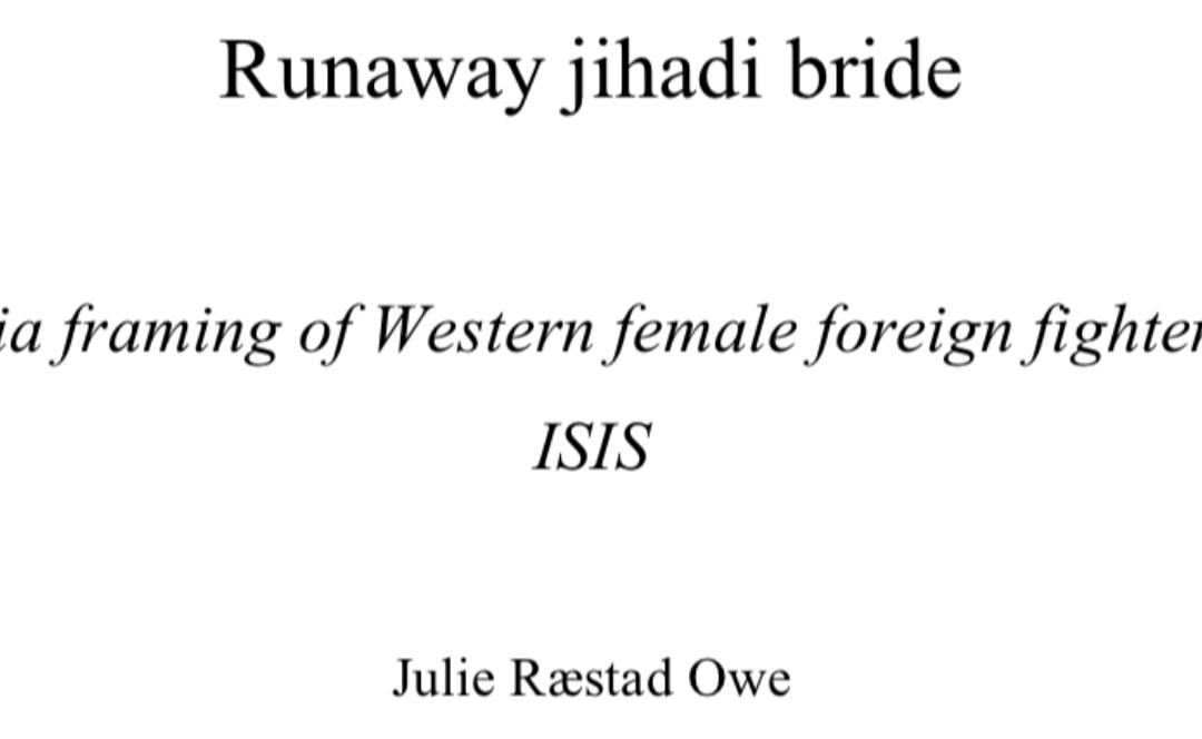 Mediefremstillinger av kvinner som har tilsluttet seg IS