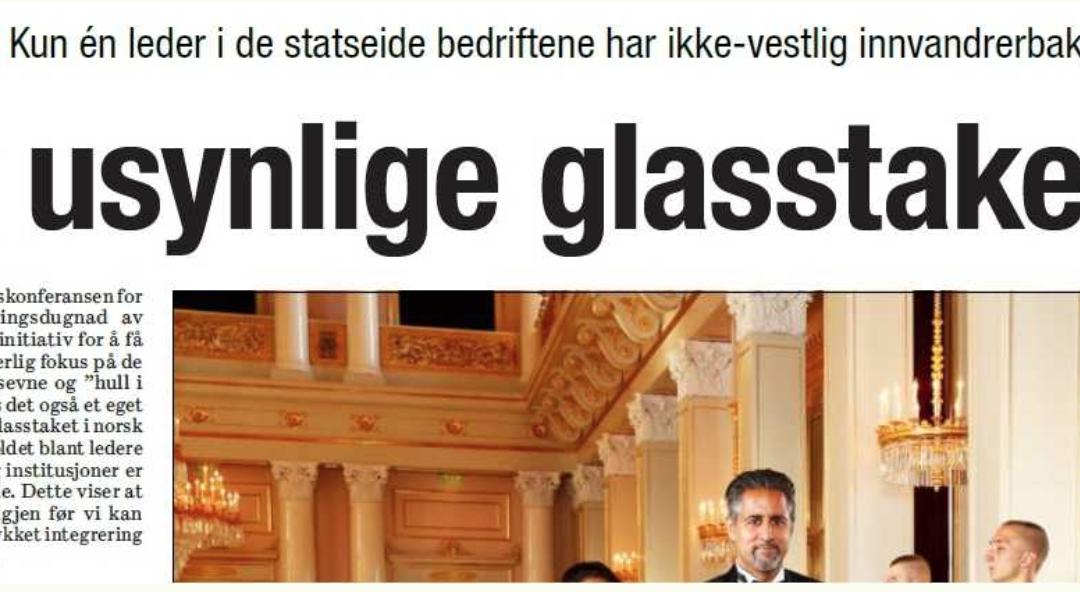 Kronikk: «Det usynlige glasstaket», Dagsavisen 19. juli 2018